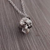 Human Skull Cremation Ash Urn Charm Necklace - Moon Raven Designs