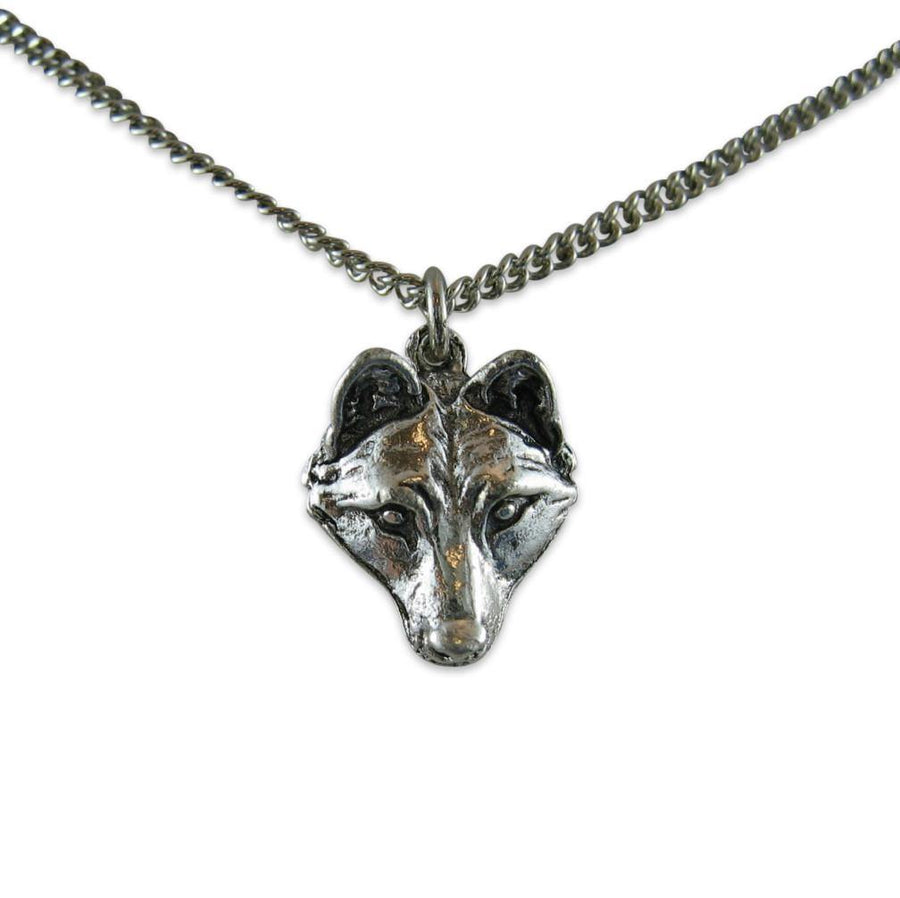 Little Wolf Face Necklace - Moon Raven Designs