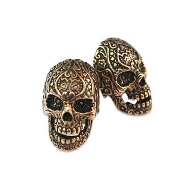 Sugar Skull Cufflinks - Moon Raven Designs