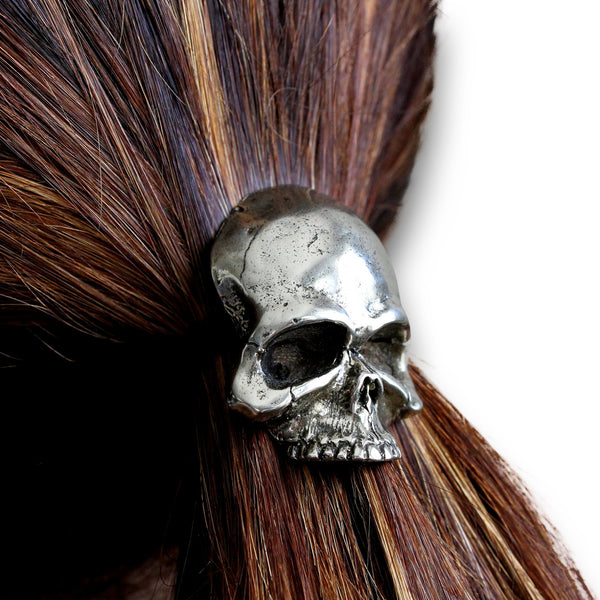 Skull Pony Tail Holder / Necklace - Moon Raven Designs