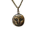 Tiny Barn Owl Necklace - Moon Raven Designs