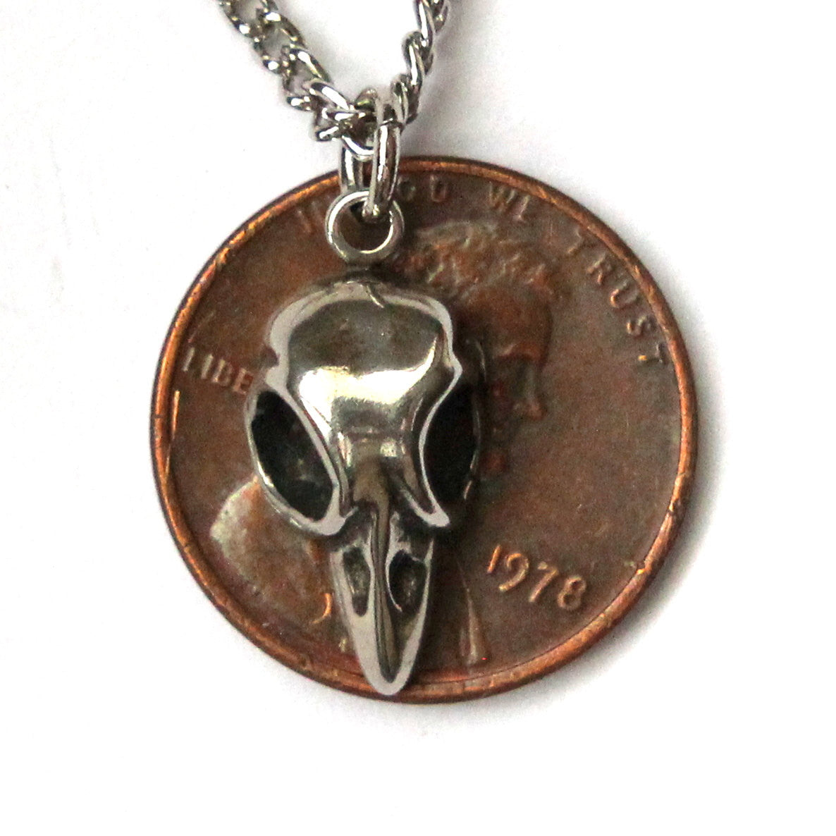 Tiny Baby Bird Skull Necklace - Moon Raven Designs