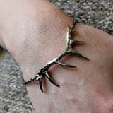 Antler Bracelet in Solid White Bronze - Moon Raven Designs