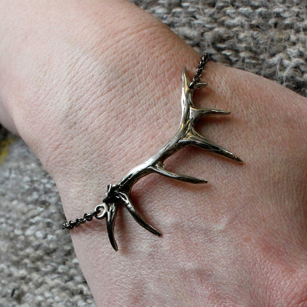 Antler Bracelet in Solid White Bronze
