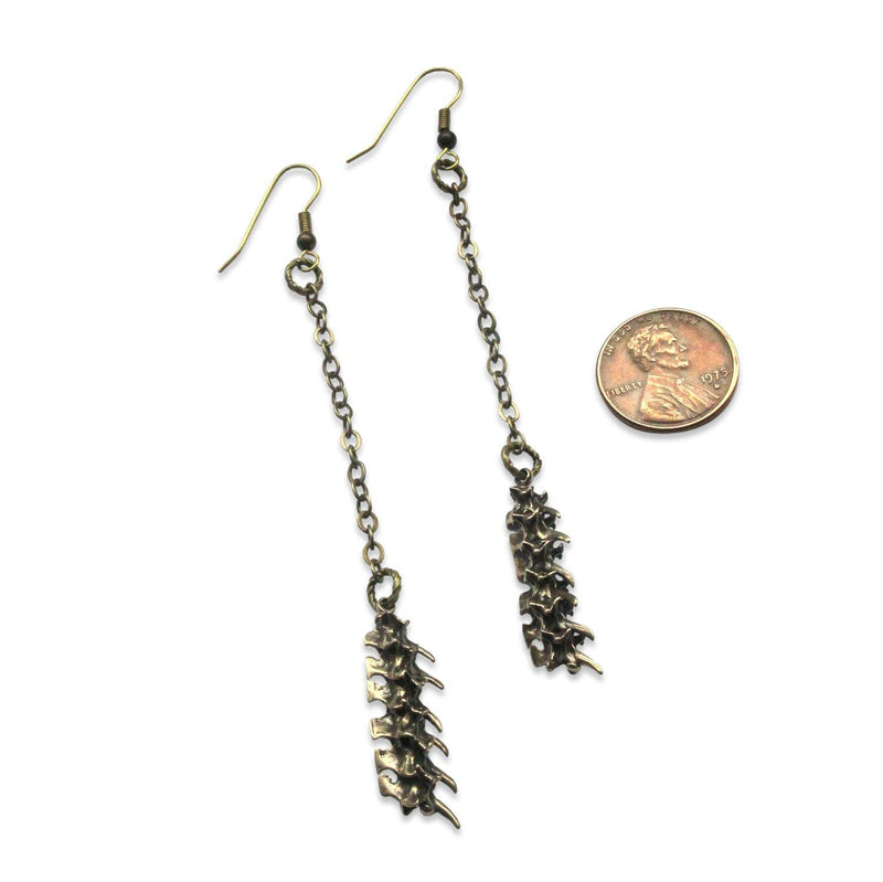 Snake Vertebrae Earrings - Primal Elegance - Moon Raven Designs - Moon Raven Designs