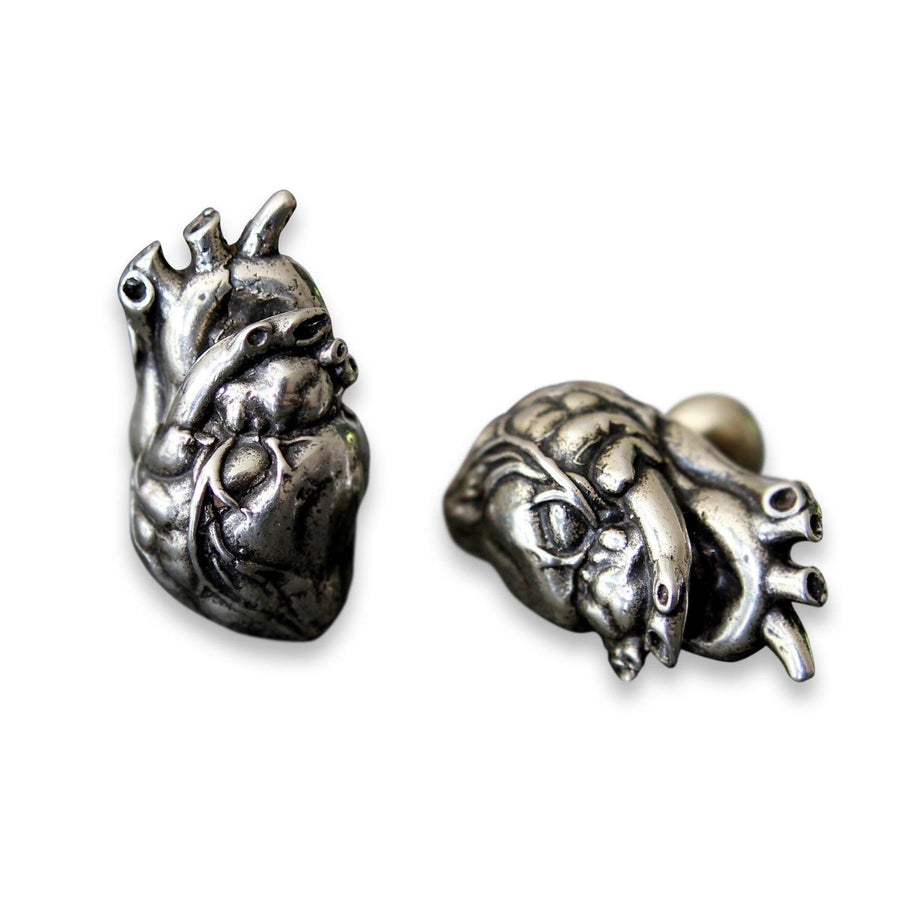 Anatomical Human Heart Cuff Links - Moon Raven Designs