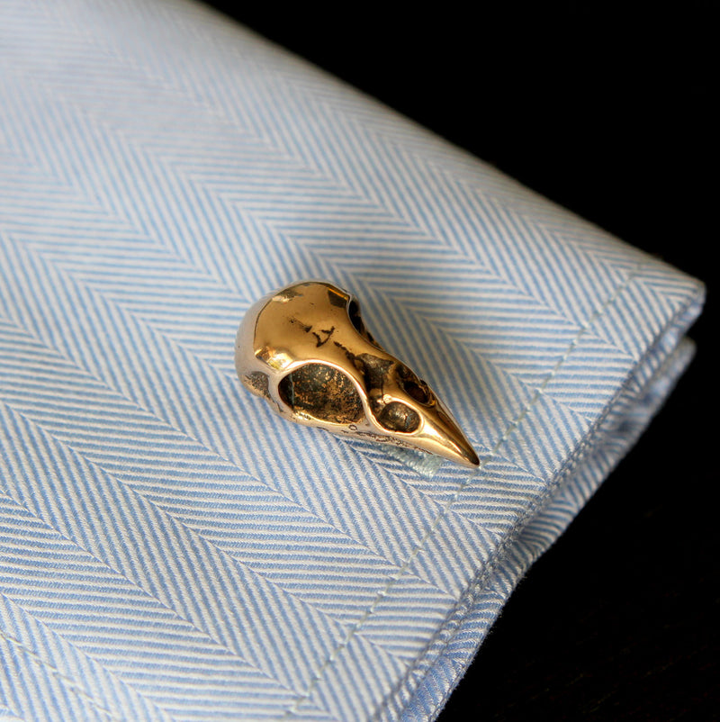 Bird Skull Cuff Links - Moon Raven Designs