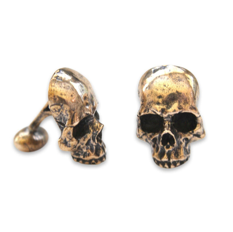 Human Skull Cuff Links - Moon Raven Designs