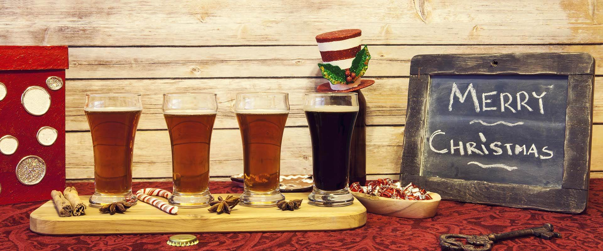 Christmas Gift Baskets with Beer