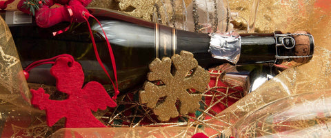 Christmas Gift Baskets with Champagne