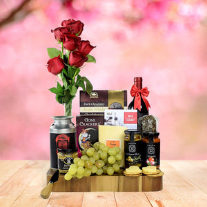A Treat For My Valentine - Valentine's Day Gift Baskets No Alcohol