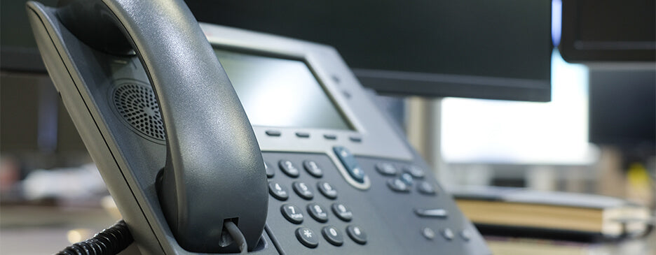 Image of a phone; call us with any questions or concerns.
