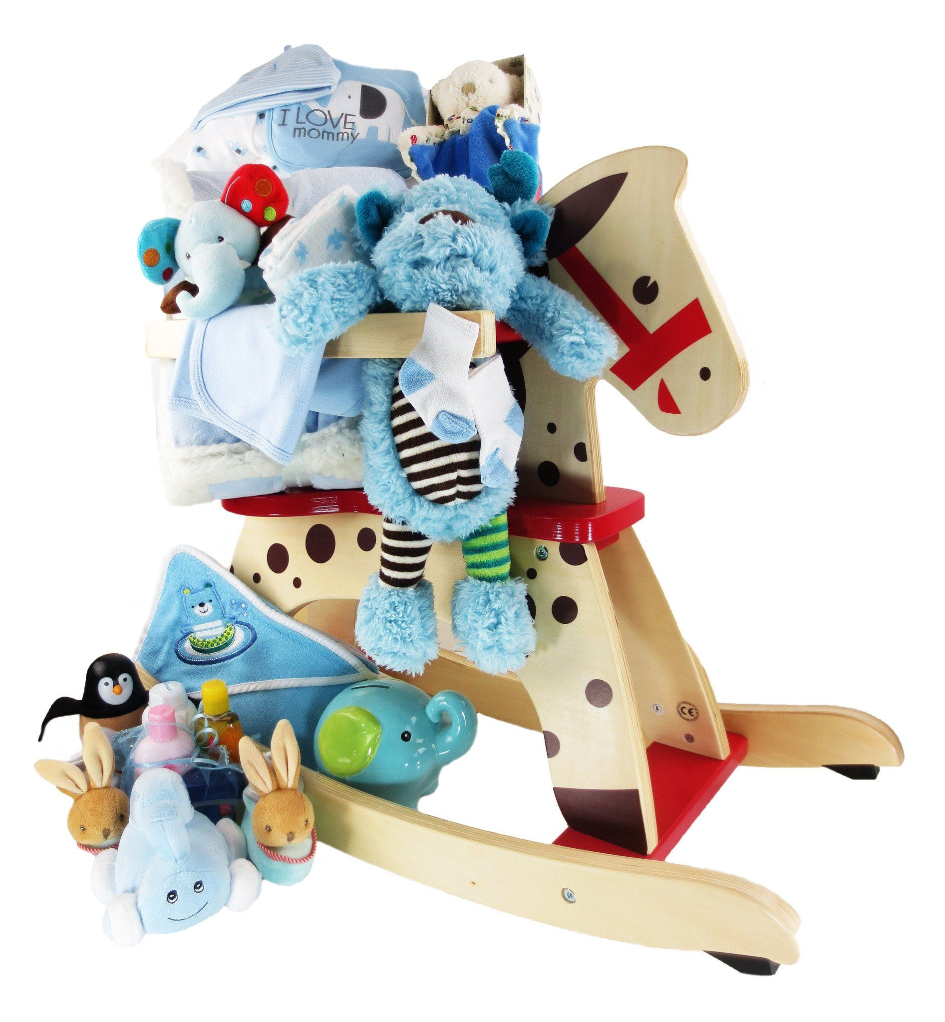 Little Boy Rocking Horse Gift Basket