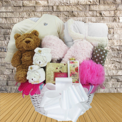 Pampering Mom, Welcoming Baby! Baby Gift Basket for Him or Her