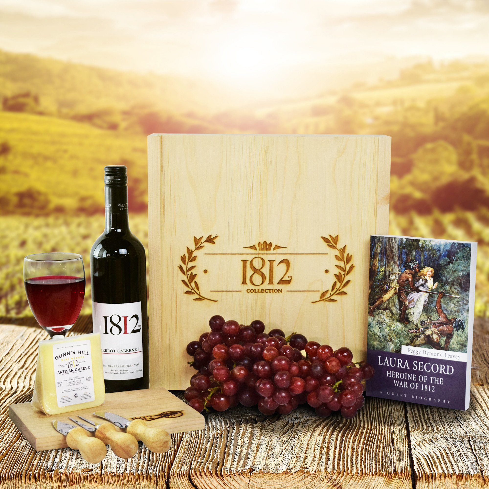 War of 1812 Red Wine Crate