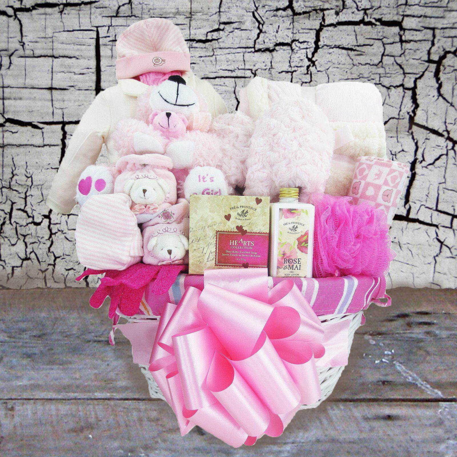 Pampering Mom, Welcoming Baby! Baby Girl Gift Basket
