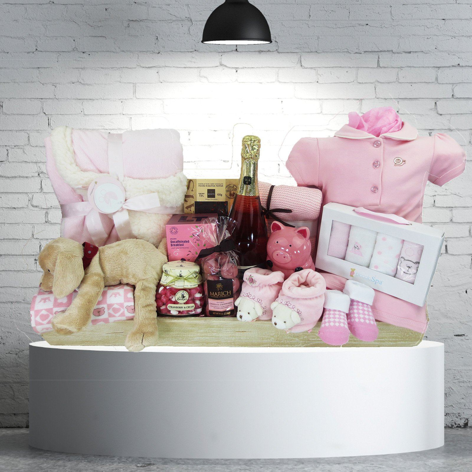 The Opulent Baby Girl Gift Basket