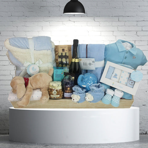 The Opulent Baby Boy Gift Basket