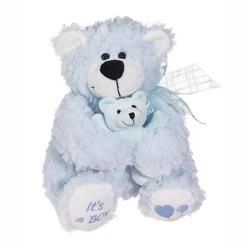 Blue Huggy- A Bear Hugging a Baby Bear
