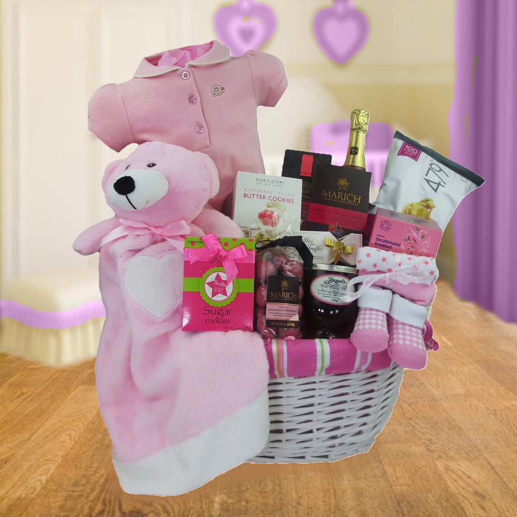 Let's Celebrate Baby Girl Gift Basket