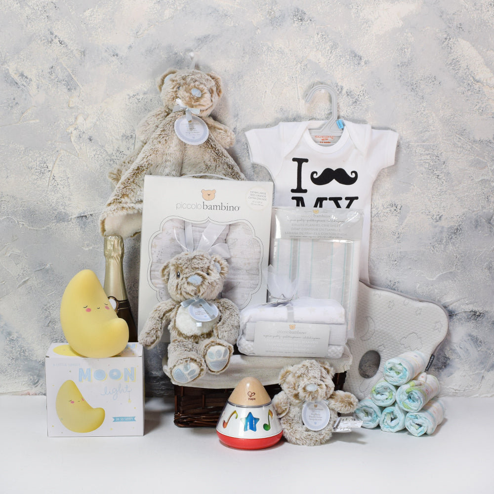 Dad's New Arrival Gift Basket, baby gift baskets, baby gifts