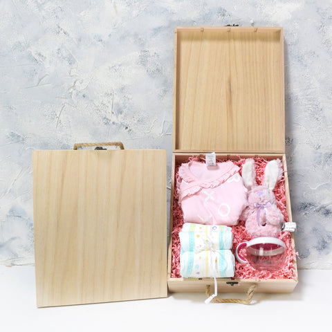 Baby Girl Crate, baby gift baskets, baby gifts