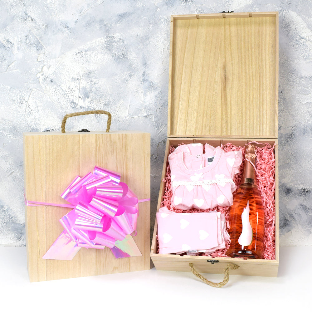 Baby Girl Arrival Crate, baby gift baskets, baby gifts