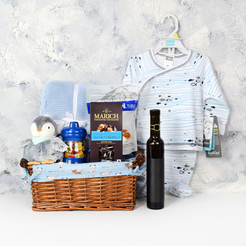 Chocolates & Wine Baby Gift Basket