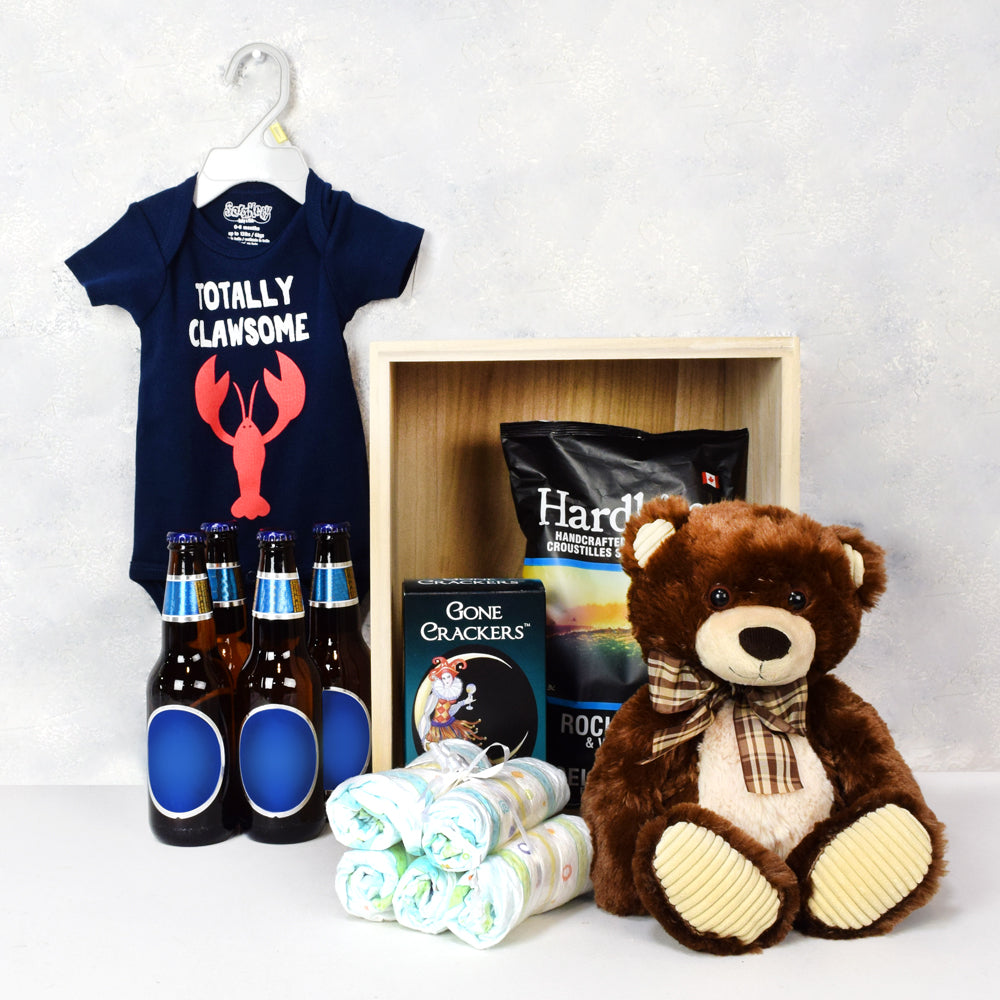 Baby Boy Blue Basket