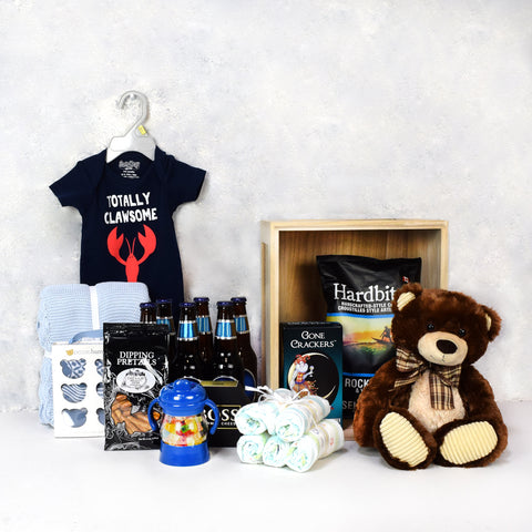 Deluxe Baby Boy Blue Basket