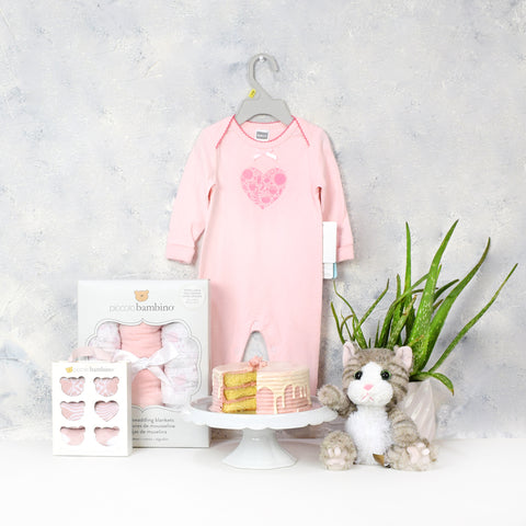 Baby Girl Birthday Starter Basket