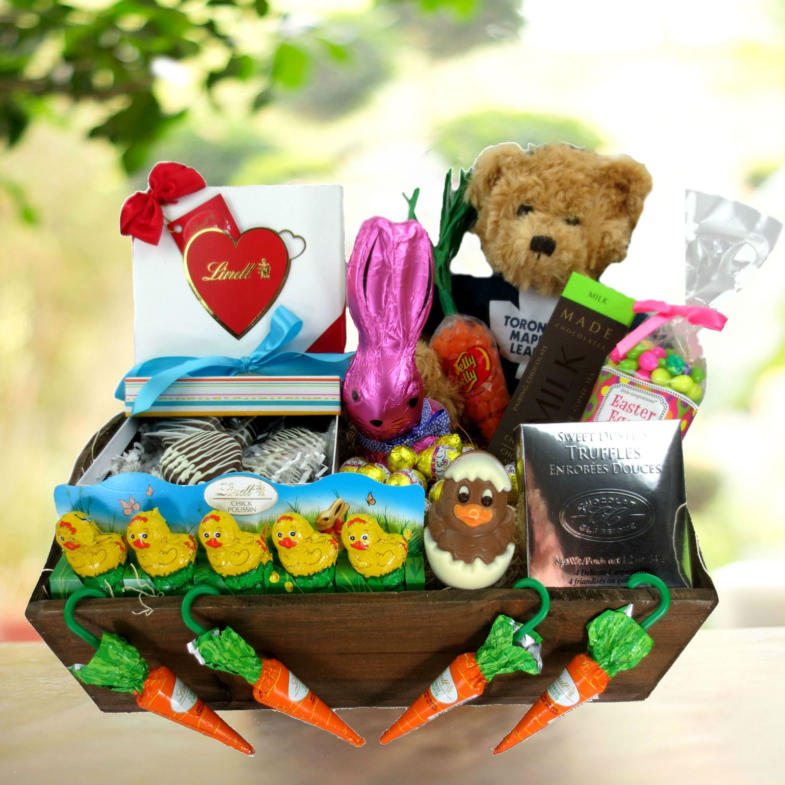 Maple Leafs Bear & Easter Gift Basket