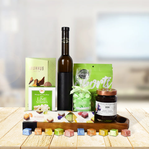 GREEN ISLE SWEETS CHOCOLATE & WINE BASKET