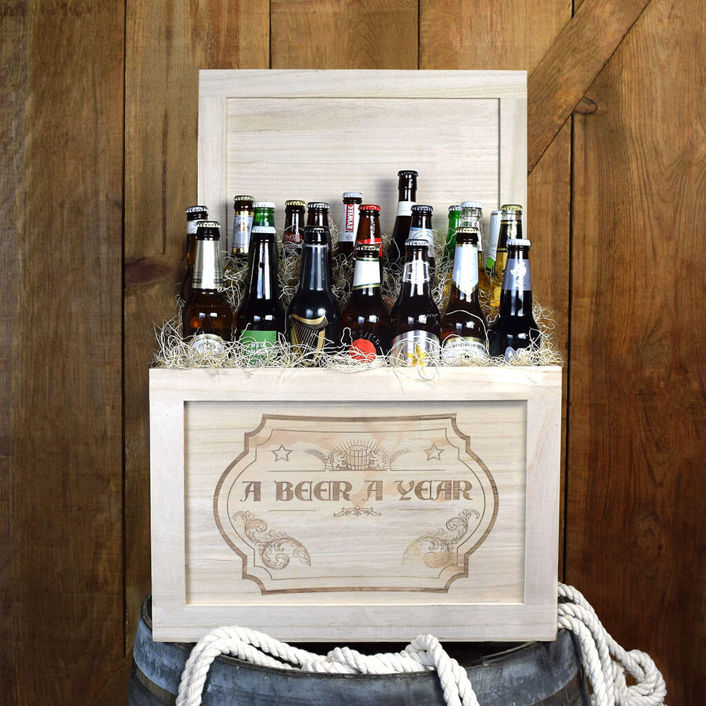 """A Beer a Year"" Beer Gift Basket - Beer Gift Basket of the Year!"