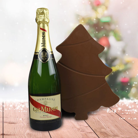 A Very Merry Chocolate Tree Champagne Gift