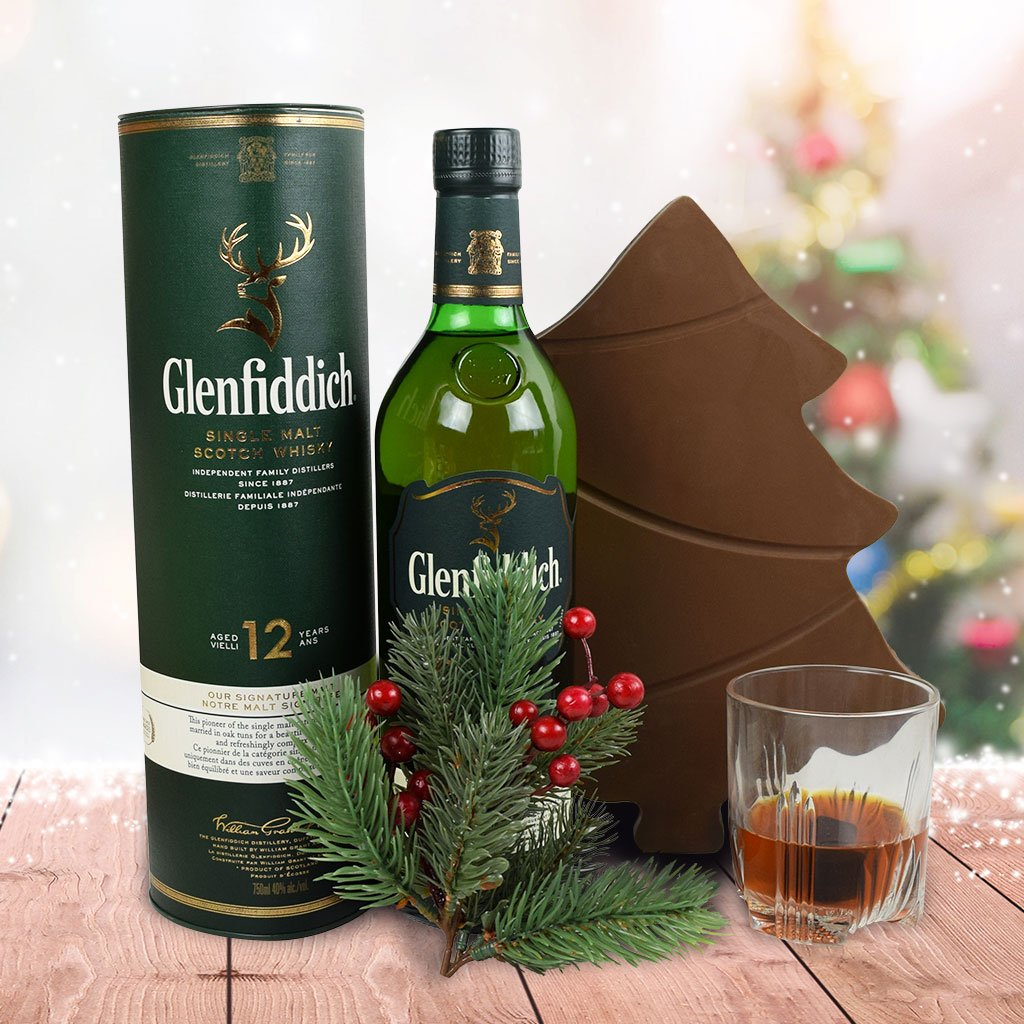 A Very Merry Chocolate Tree Liquor Gift