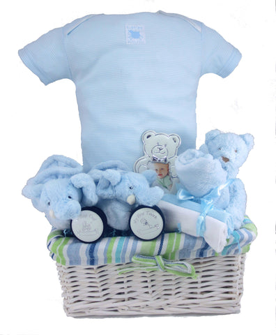 The Cuddles Baby Boy Gift Basket