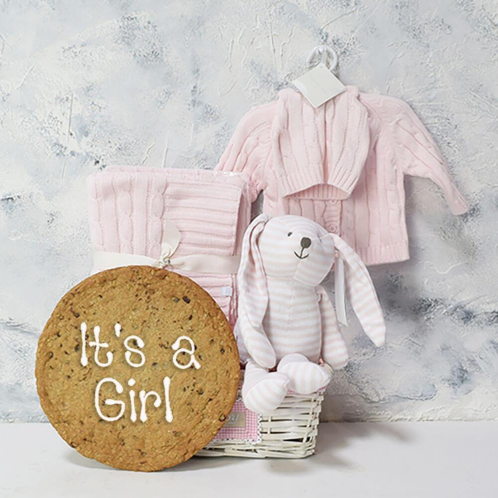 BABY IS A MIRACLE GIFT BASKET, baby girl gift hamper, newborns, new parents