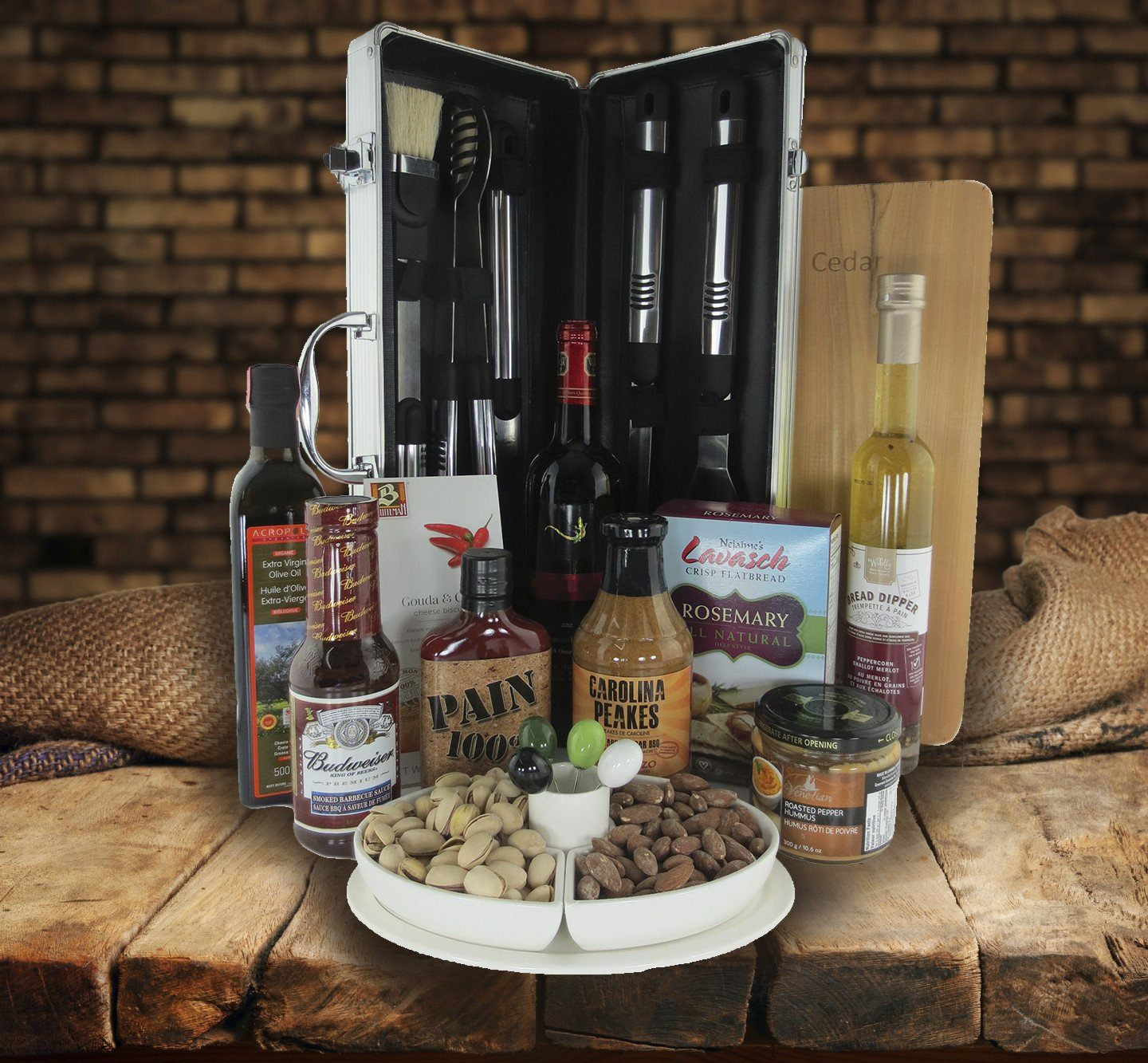 The Executive Beer & Barbeque Case Gift Basket