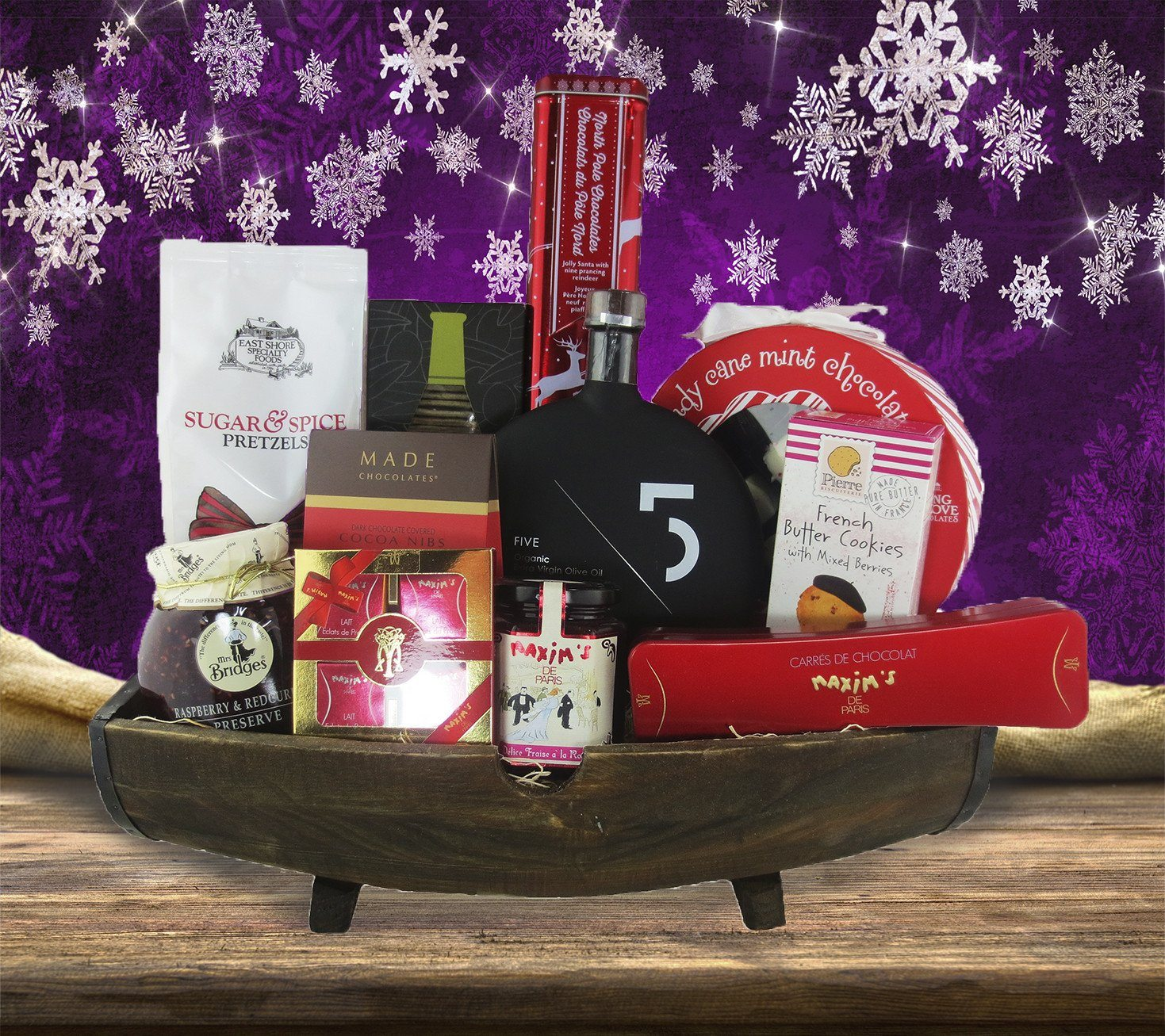 Rustic Holiday Gift Basket