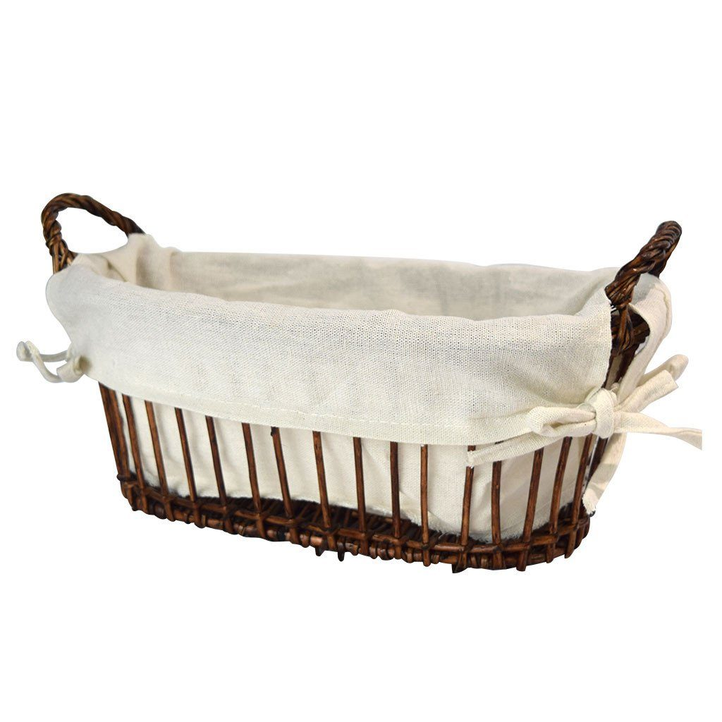 Bread basket with removable liner