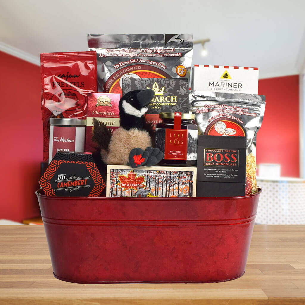 Canada Day Party Platter Gift Basket
