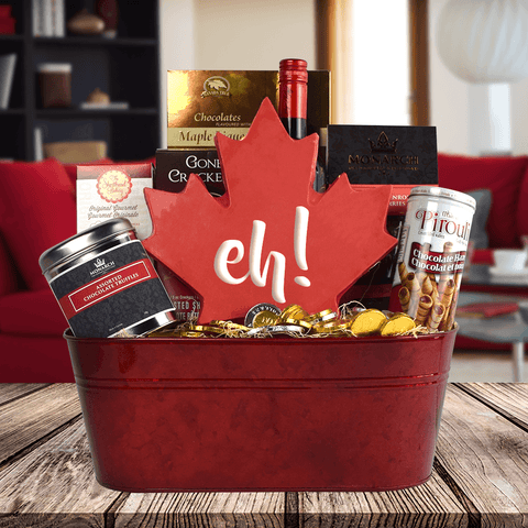 Canadian Chocolate Currency Gift Basket