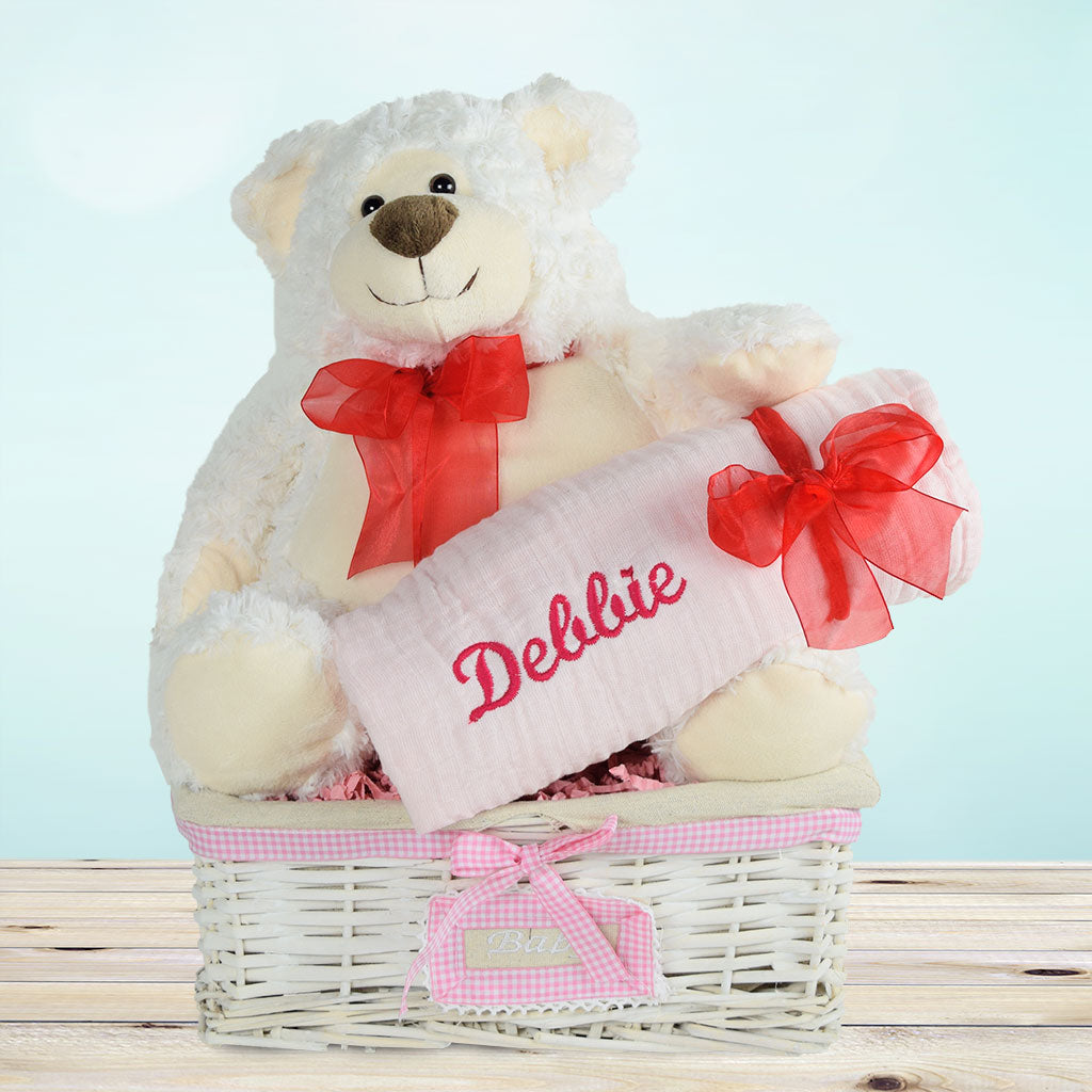 Celebrating A Beautiful Baby Girl Gift Basket