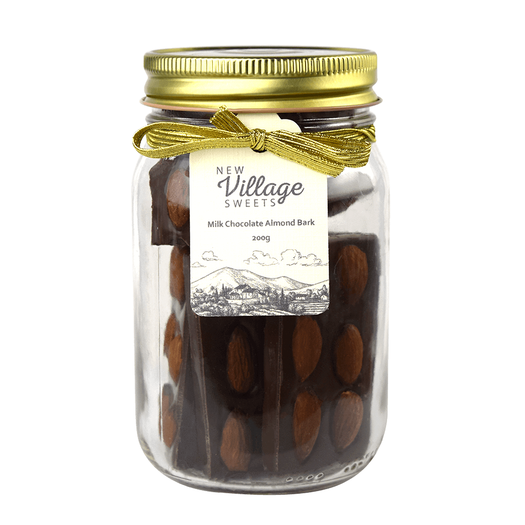 New Village Sweets Milk Chocolate Almond Rows