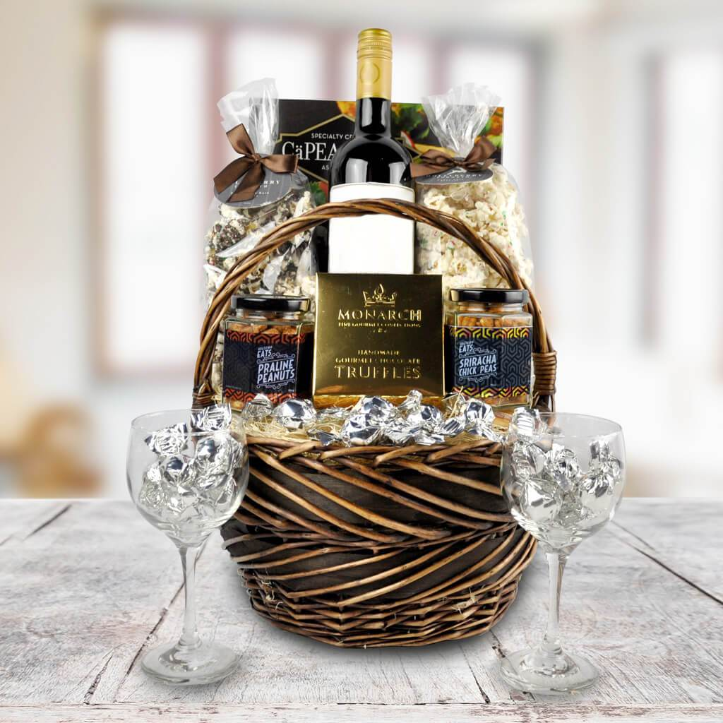 Christmas Wine Picnic Basket