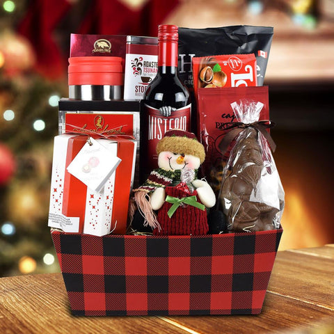 The Christmas Morning Gift Basket with Wine