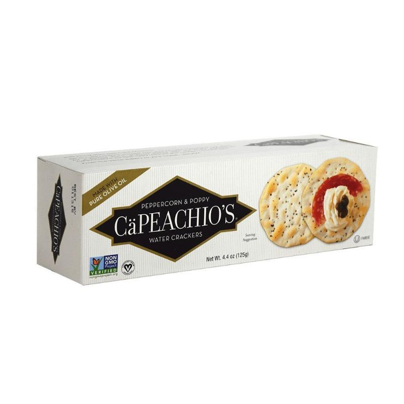 CaPeachio's Peppercorn & Poppy Water Crackers