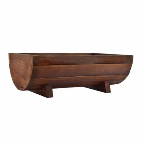 Wooden Half Barrel Boat