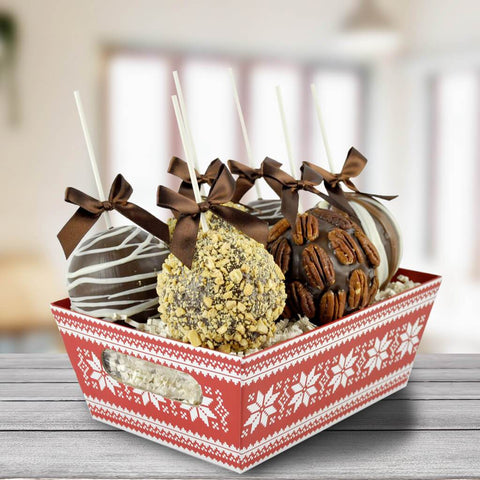 The Cozy Chocolate Apple Basket